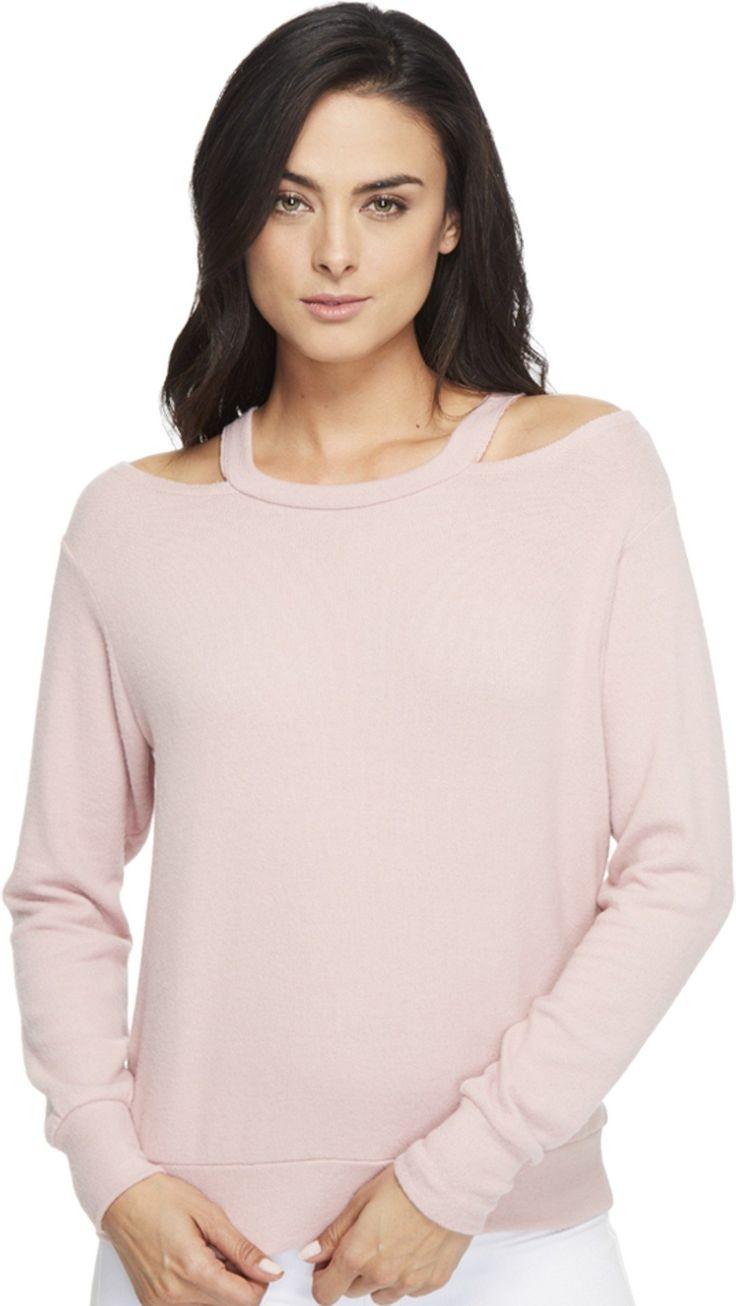 LNA Women's Bolero Sweater Crystal Rose Sweater