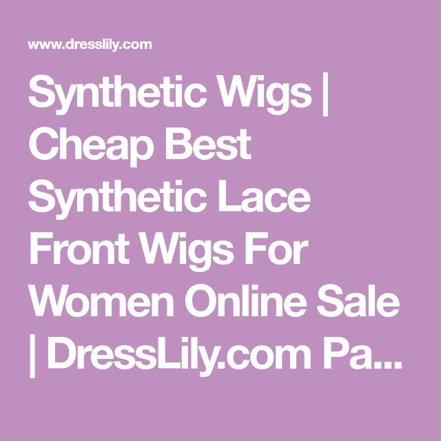 Synthetic Wigs   Cheap Best Synthetic Lace Front Wigs For Women Online Sale   DressLily.com Page 2