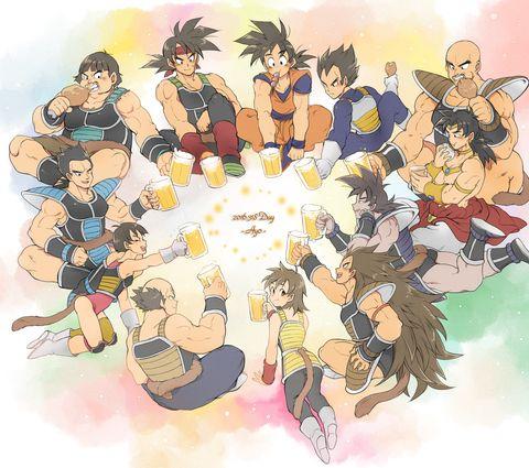 Vegeta and Goku with the Saiyans