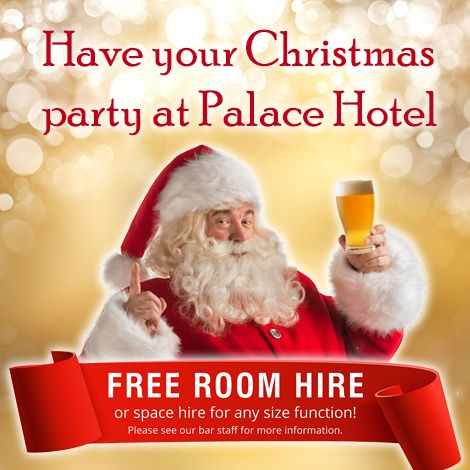 Have your Xmas Party @ Palace Hotel Sydney - FREE room hire! http://www.palacehotelsydney.com.au/whats-on/