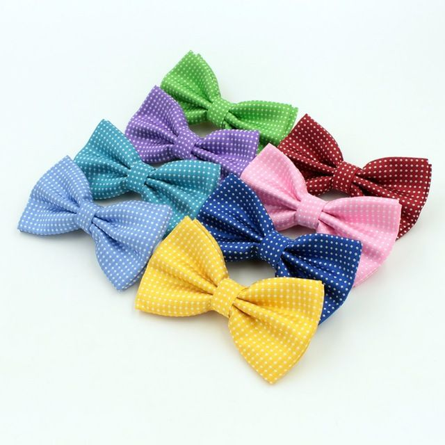 【 $1.50 & Free Shipping 】Fashion Butterfly Gravata Party Bowtie Wedding Groom Candy Color White Dots Pattern Bowknot Cravat | worth buying on AliExpress