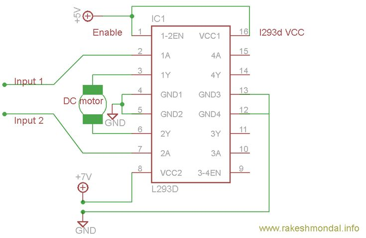 L293D is a typical Motor driver or Motor Driver IC which