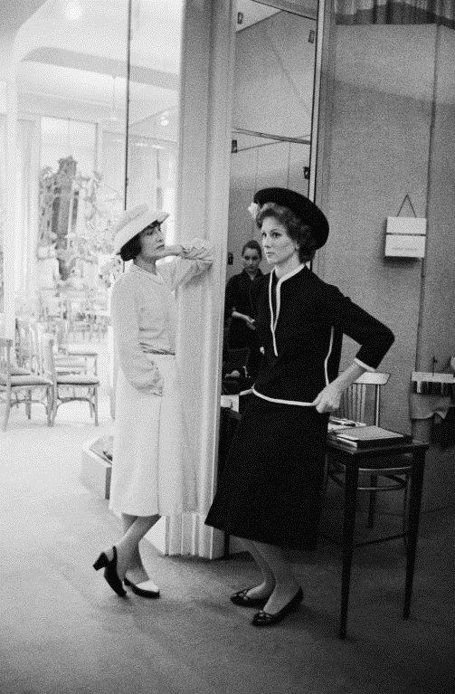 Coco Chanel and Suzy Parker