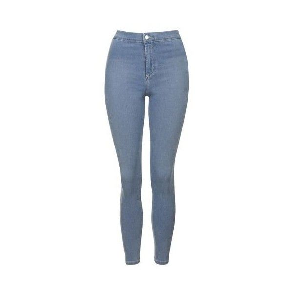 TopShop Tall Bleach Grey Joni Jeans ($53) ❤ liked on Polyvore featuring jeans, bleach stone, skinny fit jeans, high rise skinny jeans, stretch jeans, high-waisted jeans and high waisted jeans