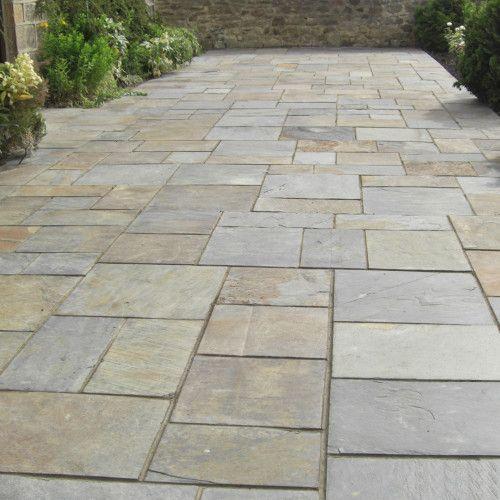 bradstone paving | Vijaya Gold Natural Slate Patio Paving - Bradstone | Simply Paving