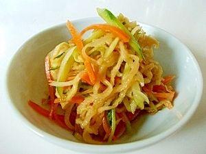 「切干大根の中華サラダ(全工程写真あり)」煮物じゃないよ~切干大根を生で♪ポリポリとした食感で、中華風な味付けなので、我が家の子供は好きなんですよ。【楽天レシピ】
