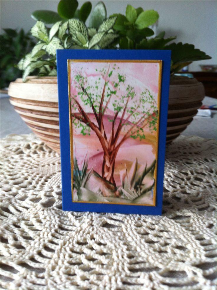 Mini Faltkarte 6x10 cm