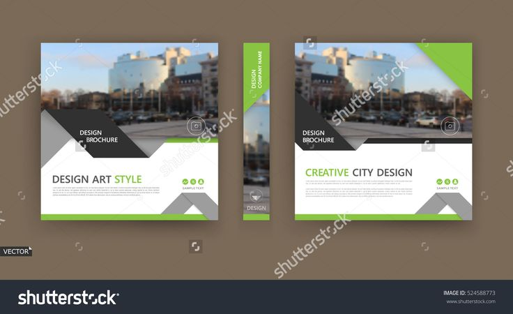Abstract Composition. White Brochure Cover Design. Info Banner Frame. Text Font. Title Sheet Model Set. Modern Vector Front Page. City View Texture. Green Triangle Figures Image Icon. Ad Flyer Fiber - 524588773 : Shutterstock