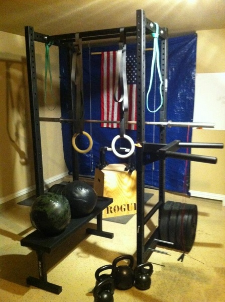 Garage gyms rogue equipped my box pinterest
