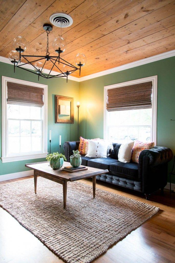 The Baby Blue House | Season 3 | Fixer Upper | Magnolia Market | Living Room | #Shiplap | Chip & Joanna Gaines | Waco, TX