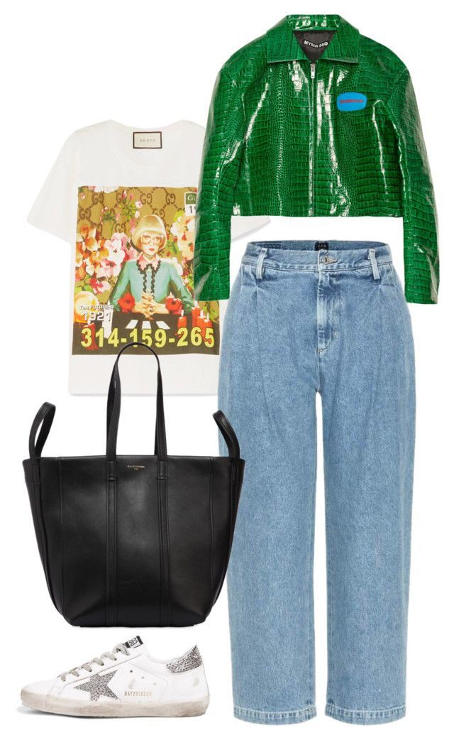 """""""Untitled #762"""" by szudi on Polyvore featuring Gucci, Hyein Seo, Citizens of Humanity, Golden Goose and Balenciaga"""