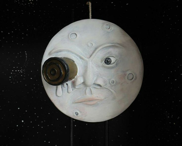 "Art, Moon of George Melies, art doll, box, illustration, ""Te regalo la luna... la luna de George Melies""  www.tallersancho.com"