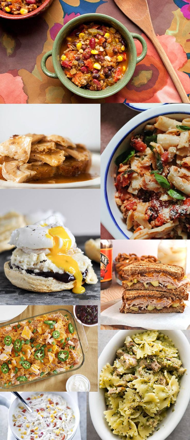 10+ Easy ways to use up your leftover Thanksgiving turkey.