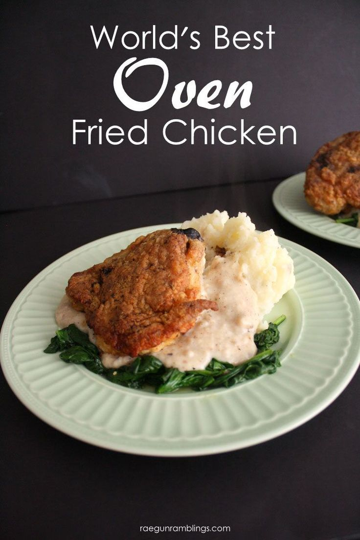 Hands down the best oven fried chicken recipe. I make this for family dinner all…