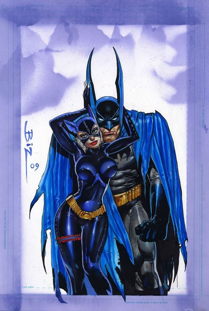 Simon Bisley Art - Batman & Catwoman Painting (SOLD) Comic Art