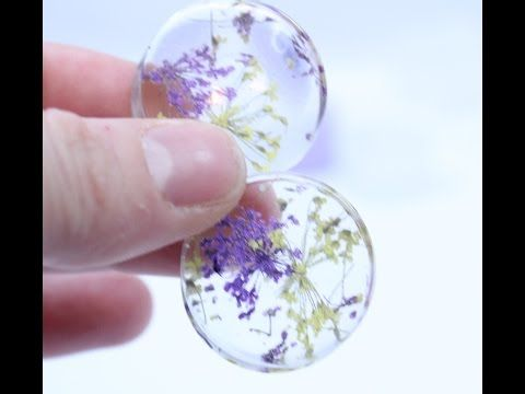 How to make Dried Flower Ear Plug/Tunnels with Silicone Molds and Resin - YouTube