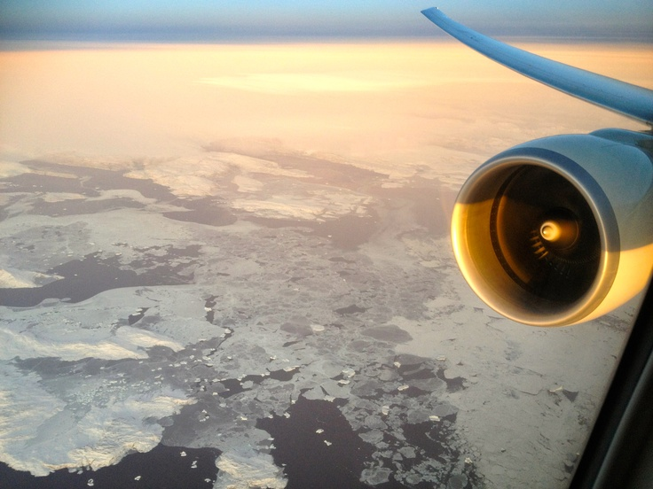 Another view from the wing, this time over Greenland