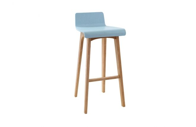 tabouret chaise de bar design bois teint bleu scandinave baltik bar design et conceptions. Black Bedroom Furniture Sets. Home Design Ideas