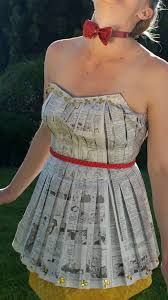 Image result for how to make a skirt out of newspaper