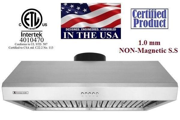 "XtremeAir Ultra Series UL13-U36, 36"" Under cabinet hood"
