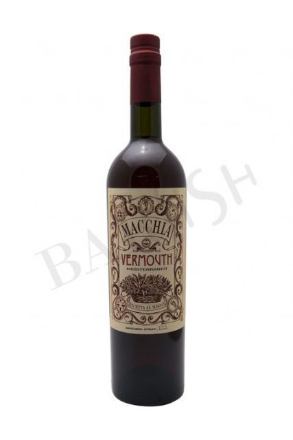 BarFish - Macchia Vermouth Mediterraneo Rosso – 17% – 750ml - Vermouth - Aperitif - Barkultur genießen!