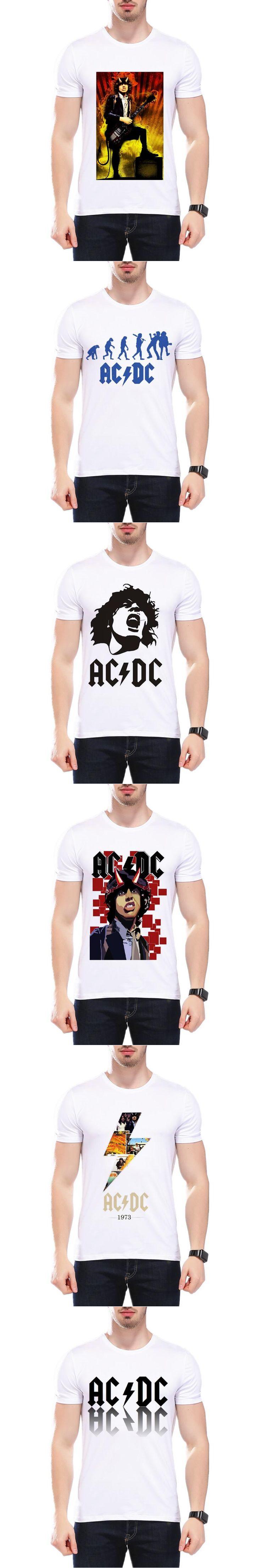 New Camisetas AC/DC band rock T Shirt Fashion ACDC The Beatles Nirvana Band Logo Casual Brand Men T Shirt L9O5