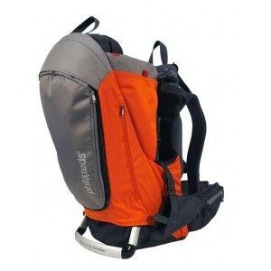 porte bebe dorsal escape gris et orange de phil and teds sur notre boutique