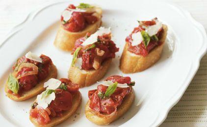 Μπρουσκέτες με προσούτο και ντομάτα