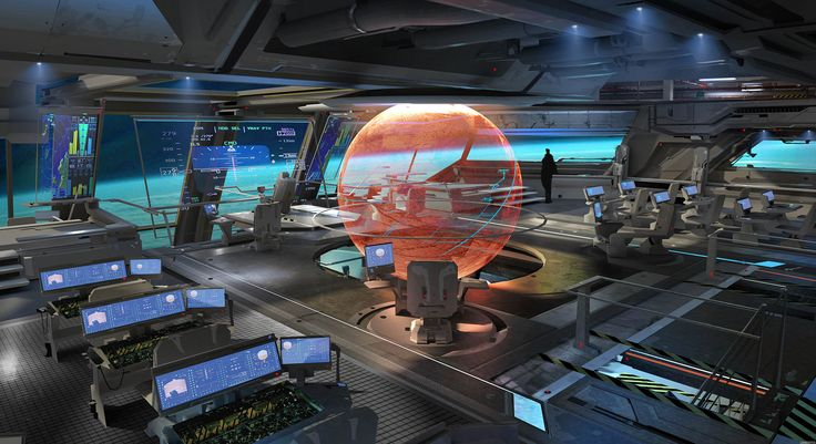 One of the inspirations for the bridge of a battleship or other Confederation ship. Sci-Fi Concept Art - Follow-through