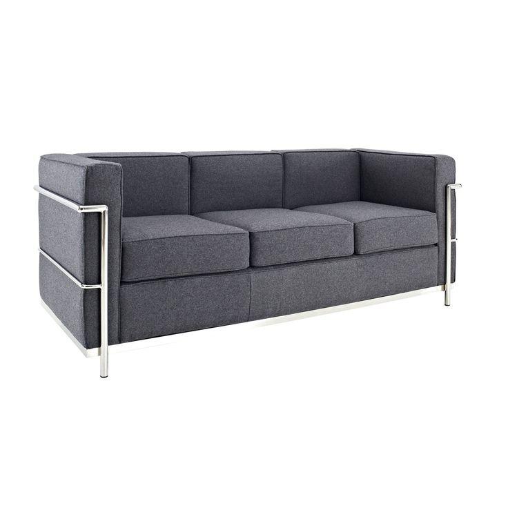 Cubic Contemporary Sofa in Gray   dotandbo.com