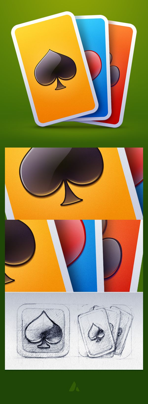 Solitaire icon on Behance