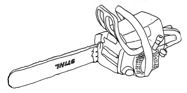17 best chainsaw images on pinterest chainsaw chain for Chainsaw coloring pages