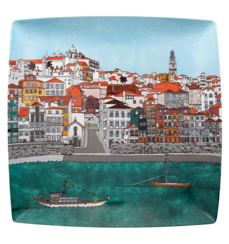 A collection of a cultural nature, based on traditional icons of the city of Porto. Come to Porto with Vista Alegre and visit the Sé (Cathedral), the wine cellars of Port wine, the river and the typical kiosks of the northern capital. You can also enjoy a Rebelo boat ride on the river Douro with its magnificent D. Luis bridge. Other available collections: 'Alma de Lisboa', 'Alma da Madeira', 'Alma de Madrid' and 'Alma do Rio de Janeiro'.