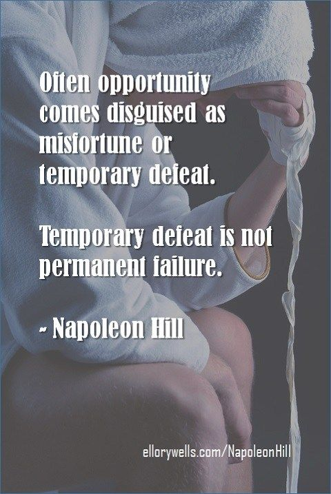 165 Valuable Lessons from Think and Grow Rich | Ellory Wells, Napoleon Hill Temporary Defeat