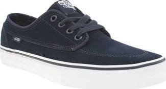 Vans Navy Brigata Mens Trainers Deck out your plimsoll collection with this nautical-inspired silhouette from Vans. Inspired by the classic boat shoe, the Brigata arrives in durable navy suede, featuring tonal branding for an authen http://www.comparestoreprices.co.uk/january-2017-8/vans-navy-brigata-mens-trainers.asp
