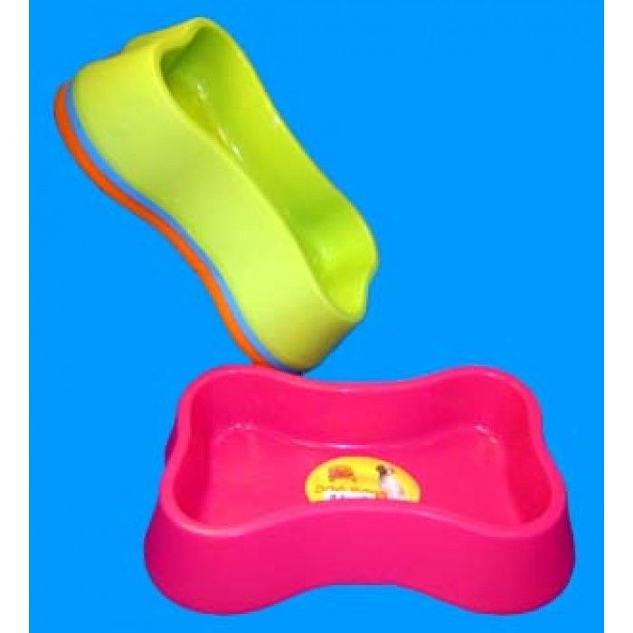 Plastic bone shaped dog bowl 12 birthday party for Plastic dog bowls for party