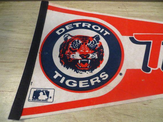 Vintage Detroit Tigers Pennant Baseball Pennant by oZdOinGItagaiN, $10.00