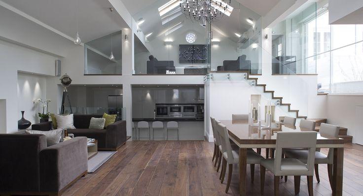 Open Floor Plan Living Room Kitchen Dining Room With