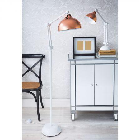 Kopa table lamp domayne online store dormitorio for Copper floor lamp domayne
