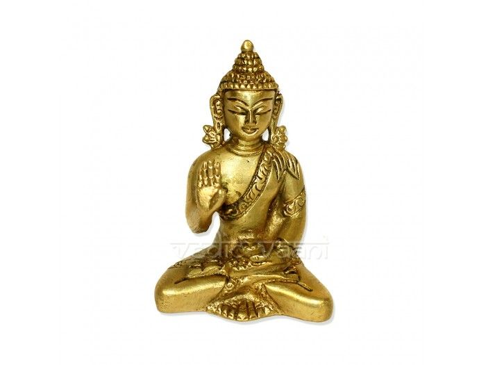 "Buddha Blessed in Meditation Pose Brass Idol, Vedicvaani.com. We have wide range collection of Buddha statues, figurines for sale on buddha purnima festival. Buddha Blessed in Meditation Pose with hand made in India.  Buddha means ""awakened one"" or ""the enlightened one."" Gautama Buddha is the primary figure in Buddhism, and accounts of his life, discourses, and monastic rules are believed by Buddhists to have been summarized after his death and memorized by his followers."
