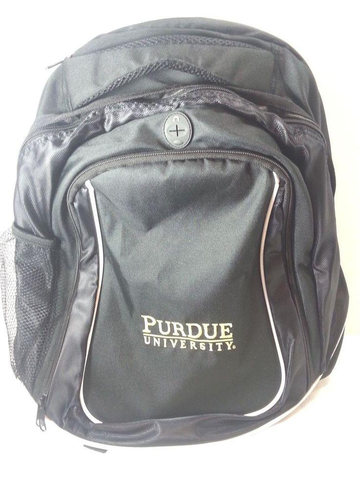 Purdue University Boilermakers Backpack Bookbag And Laptop Tablet Sleeve Black  #PurdueBoilermakers
