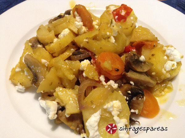 Πατάτες+φούρνου+με+μανιτάρια+#sintagespareas