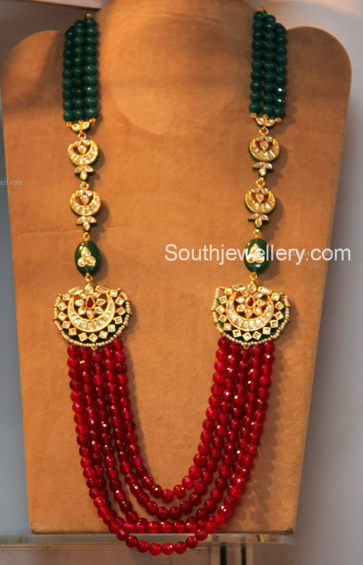 jewelry blue golden necklace pendants mango colour chain buy online red kempu pendant with designer polished beads design set