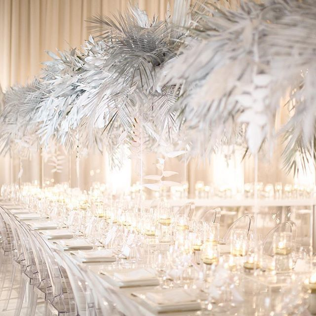Talk about texture! The incredible #centrepieces at this #BeverlyHills…
