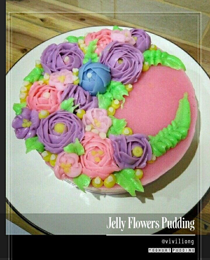 Jelly Flowers Pudding