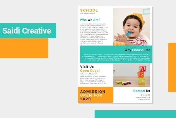 Free School Admission Flyer Template Word Document Fully In 2020 Free Brochure Template Flyer Template Leaflet Template