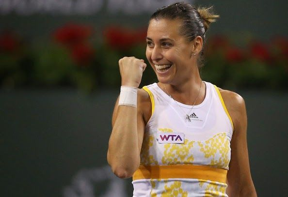 Tennis Moods: Flavia's Big Triumph in Indian Wells  Playing in the biggest final of her career, Flavia took full advantage of Aga Radwanska's knee injury, crushing the Pole 6-2,6-1 to claim her tenth WTA crown.