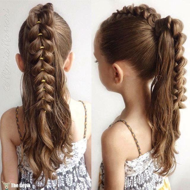Peachy 1000 Ideas About Little Girl Braids On Pinterest Girls Braids Hairstyles For Women Draintrainus