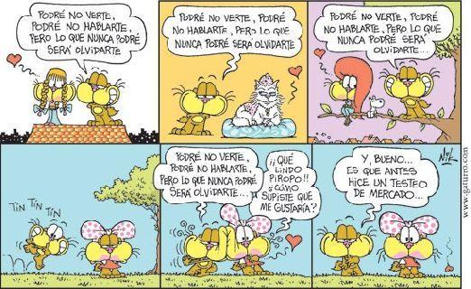 Gaturro. Nik Piropo... posterior a un testeo de mercado.  Gaturro es un personaje creado en 1993 por el humorista argentino Cristian Dzwonik, más conocido como Nik. Gaturro es un gato marrón, con unos grandes cachetes amarillos. Es el principal de la tira cómica que lleva su nombre. Para comunicarse con los humanos emplea el método de Garfield, es decir, no habla sino piensa, mientras cuando habla con sus amigos animales, se lo muestra hablando.