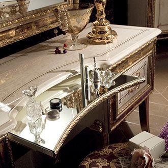Raffaello Collection Bedroom, Dressing Table Detail www.arredoclassic.com/bedroom/dressing-table-raffaello